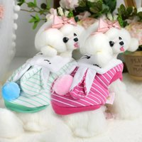 Wholesale Dogs Wearing Cute Costumes - Lollipop Pet Products Supplies Dog Clothes Wear Apparel Hoodies Puppy Cute Rabbit Dog Coat Thick Downs Jackets Costumes 7DLP51