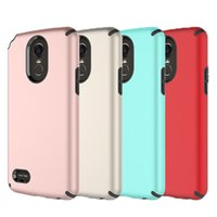 Wholesale Dual Layer Armor Case - For LG Stylo 3 Case 2in1 Armor Hybrid Dual Layer TPU Rugged PC Shockproof Case Cover for LG Stylo 3