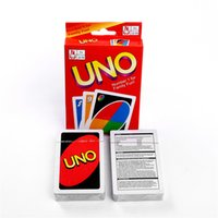 UNO Card Standard Edition UNO Playing Cards 5.6 * 8.8CM Family Fun Playing Cards Gift Box Manuale inglese Regali di Natale Giocattoli