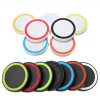 Wholesale qi charger price for sale – best Factory Price Universal Qi Wireless Power Charging Charger Pad kit round shape and light For iPhone and for Samsung with Retail Box