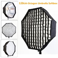 Freeshipping Photo Studio 120cm Ottagono Ombrello Softbox Diffusore Riflettore con Nylon Gird per Speedlite Flash Fotografia Studio Soft Box