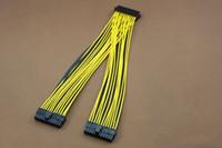 pc anakart kabloları toptan satış-PC Sunucu PSU ATX 24Pin 1 Kadın 2 Erkek Y Splitter Anakart Güç Kablosu kablosu 18AWG 30 cm