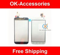 Wholesale Lg L7 Ii - High Quality Black White Color For LG Optimus L7 II Dual P715 Touch Screen Digitizer Touch Panel Replacement 1PC Lot Free Shipping