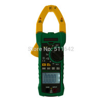 Wholesale Ac Current Detector - MASTECH MS2015A Professional Digital AC DC Clamp Meter True RMS Multimeters Current Frequency With Non-contact Voltage Detector