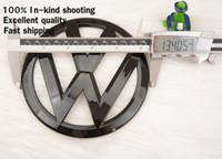 Wholesale Vw Front Emblem - 2Pcs Glossy Black Front Grille + Rear Back Emblem Badge Logo Fit VW Golf MK7 7 2014