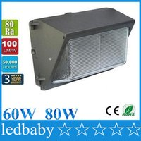 Wholesale lighting list for sale - Group buy CREE LED W W lm led wall pack Outdoor Wall Mounted light meanwell driver DLC ETL Listed V led lightig