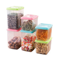 Wholesale M Container - Vanzlife kitchen half flip food storage box storage tank airtight containers sealed cans of whole grains size S M L