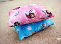 Wholesale Small Children Picture - Frozen desk nap small car back children small pillow mat cartoon elsa anna princess picture pillows 15pcs lot GX692