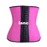 Wholesale Wholesale Latex Shapers - Fashion Hot Latex Waist Trainer Vest Plus Size Waist Training Corsets Hot Shapers Women Slimming Body Shaper Latex Waist Cincher Shapewear
