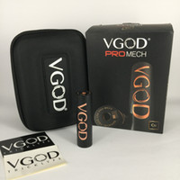 Original VGOD Pro Mech Mod 24mm Diametro vape 5 Grandi fori di sfiato 510 Connecttion Authentic ProMech Box Mod 100% autentico