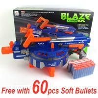 Wholesale Dart Rifles - Super Size Children's Electric Soft Bullet Gun Toy 48 Bursts Fully Automatic Dart Blasting Semi-Auto Military Model Bullet Gun