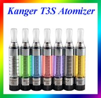 Wholesale Vision Clearomizers Wholesale - Kan-ger t3s atomizer t3s tank t3s clearomizers with kangertech t3s coils for ego vision spinner 2 evod e cigarettes starter kit in stocked