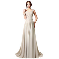 Wholesale Lower Price Bridesmaid Dresses - In Stock Under $60 Cheap Shining Crystal Beaded Bridesmaid Gowns Champagne Chiffon Bridesmaid Dresses Low Price Free Shipping