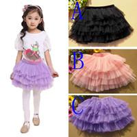 Wholesale Baby Ballerina Skirt - Retail 2016 New Fashion Girls Tutu Skirts Baby Ballerina Skirt Childrens Chiffon Fluffy Pettiskirts Candy Color Kids Skirt Girl Clothing