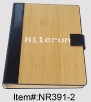 Wholesale creative natural bamboo notebook