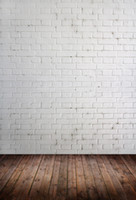 Wholesale Photography Background Wall Prop - Brick Wall and Wooden Floor Theme Vinyl Custom Photography Backdrops Prop Muslin Photography Background ZD-09