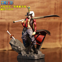 Wholesale Toy Garage Kits - Dracule Mihawk Action Figure One Piece Mihawk Doll Dracule Mihawk PVC ACGN figure Garage Kit Toys