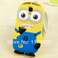 Wholesale Despicable Cover S4 - Wholesale-Newest Free Shipping Cute Cartoon 3D Soft Silicone Despicable Me 2 Minions Back Cover Case For SAMSUNG GALAXY S4 MINI I9190