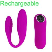 Wholesale Wireless Love Toys - Pretty Love Recharge 30 Speed Wireless Remote Control Vibrator Sex Toy For Woman Clitoris Stimulator Adult Sex Products ZD048