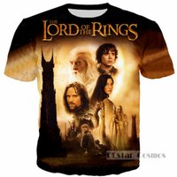 Wholesale lord rings print - 2017 Newest Fashion Men Women TV The Lord of the Rings Harajuku Summer Style Funny 3d Print Casual T-shirt H209