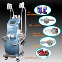 Wholesale multifunction cavitation machine for sale - Group buy Lipo laser freeze Body Slimming Machine IN Multifunction beauty equipment for spa ultrasound cavitation rf Two Handles Work Same Time