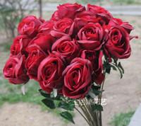 Wholesale Floral Arranging Weddings - 10cm diameter real touch rose artificial flower, Home Decorating Latex rose, floral arranging ,table centerpiece, 5colour option