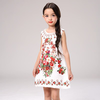 Wholesale Korean Baby Dress Sale - sale kids clothing Skirts for girls clothes Floral princess dress flowers printed Sundress children korean dresses baby dress for party 199