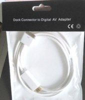 Wholesale Iphone Dock Connector Hdmi - free shipping 6ft Dock Connector to HDMI HDTV Audio Video Cable Adapter Converter For iPhone 4 4S iPad 2 3