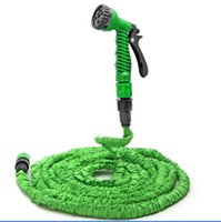 Wholesale garden spray nozzles - Deluxe 25 50 75 100 Feet Expanding Flexible Garden Water Hose Spray Nozzle Valve Car