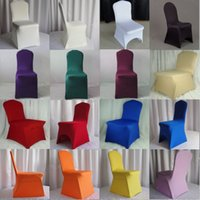 Wholesale Black Polyester Banquet Chair Covers - 2015 Hot Sale Chair Covers Polyester Spandex Wedding Chair Covers for Weddings Banquet Folding Hotel Decoration Decor Tutu Chair Sashes