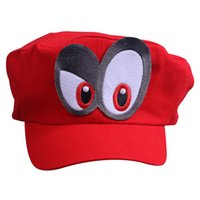 BFJ Super Mario Odyssey Cosplay Red Hat Berretti da baseball con doppio Big Eyes Halloween e regalo di Natale