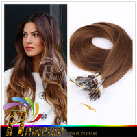 "Wholesale Micro Loop Wavy Hair Extensions - 18""-28"" #2 Wavy Micro Loop Hair Extensions Human 1g s darkest brown tangle free straight hair Micro Link Hair Extensions"