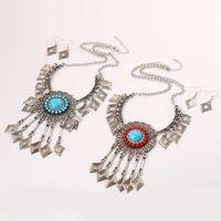 ingrosso collane di fiori di resina-Set di gioielli etnici geometrici etnici