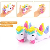Kawaii Unicorn Squishy Slow Rising Retail Packaging Cute Phone Straps Pingente Pão Creme De Bolo Scented Kids Toy Gift c280
