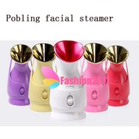 Wholesale Wholesale Facial Steamer - Korea Pobling makeup health monitors facial steamer beauty machine for beauty salon acne facial humidifier vaporizer pobling 002667