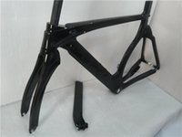 Wholesale Time Carbon Fibre Bike Frames - Newest 700C Track bike 3K full carbon fiber frame TT Time trial carbon bicycle frames+fork+seatpost+seat clamp+headsets Free shipping