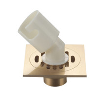 """Wholesale Drain Grating - Brass Floor Drain 4"""" Square Bathroom Shower Waste Washing Drain Grate ,Gold and Sliver"""