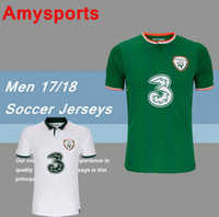 Wholesale National Names - 2018 World Cup Ireland Soccer Jerseys Custom name Republic of Ireland National Team Jerseys KEANE Daryl Home Away Football Shirts