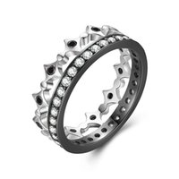 Origen 925 Sterling Silver Stackable Ring Freedom Light Clear CZ Anillos geométricos para mujeres Wedding Wedding Jewelry SCR056