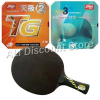 Wholesale Dhs Hurricane Blade - Wholesale- Galaxy Yinhe MC-2 Blade with DHS NEO Hurricane 3 and NEO Skyline TG2 Rubbers for a Table Tennis Combo Racket FL