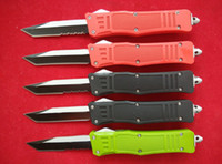 Wholesale Red Pocket Knives - Black Red Green MT A161 616 double action Tactical knife Plain   Serrated Tanto point A162 pocket knife knives w  nylon bag & box