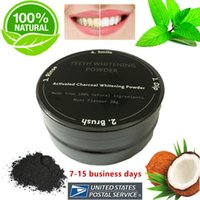 Wholesale Organic Tea Powder - 100% Natural Organic Activated Charcoal Natural Teeth Whitening Powder Remove Smoke Tea Coffee Yellow Stains Bad Breath Oral Care 30g bottle