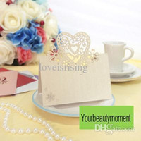 Wholesale table name cards - New Arrivals--Hot Sale-50pcs Ivory Color Laser Cut Place Cards Wedding Name Cards For Wedding Party Table Decoration-7 Colors U Pick
