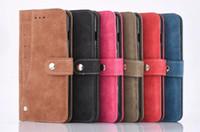 buch steht inhaber großhandel-2018 neue seitige kartenhalter magnetisch flip buch stehen luxus leder brieftasche case für iphone 7 6 6 s plus