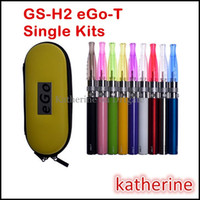 GS-H2 eGo-T Simple Kits 650mAh 900mAh Batterie 1100mAh GS - H2 atomiseur cigarette électronique E Cigarette que CE4 CE5 CE6 Starter Kits Instock
