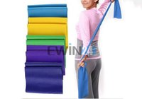 Wholesale Wholesale Exercise Stretch Bands - 1.5m Stretch Resistance Band Exercise Pilates Yoga GYM Workout Physio Aerobics New and Hot Selling