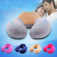 "Wholesale Upgraded Memory - Wholesale- 32X32"" 100% Memory Foam Pillow Soft Neck Head Rest Air Upgrade Style Cushion U Shape Inflatable Pillow for Picnic Flight Travel"