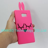 Wholesale Galaxy S3 Gel Cases Cute - For Samsung Galaxy S6 Edge G9250 S3 S4 S5 S6 Note 2 3 4 5 Silicone Gel Cell Phone Back Cover Cute 3D Bunny Rabbit
