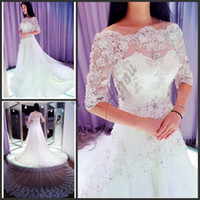 kristal boncuk tasarımı elbise toptan satış-Yeni Tasarım Fildişi Beyaz Sparkle Sevgiliye Boncuk Kristal 2018 Vintage Gelinlik Gelin Kıyafeti Ücretsiz Kargo