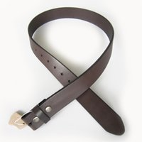 Wholesale Dark Brown Leather Belt Men - Wholesale Retail Dark Coffee Color Classic Genuine Leather Snap On Belt Gurtel Fast Delivery Free Shipping